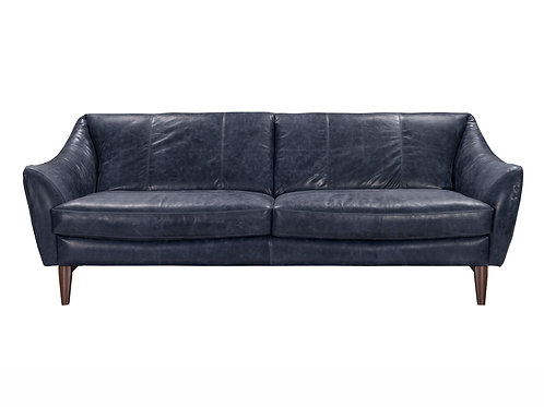 Luna II Sofa Blue Top Grain Leather