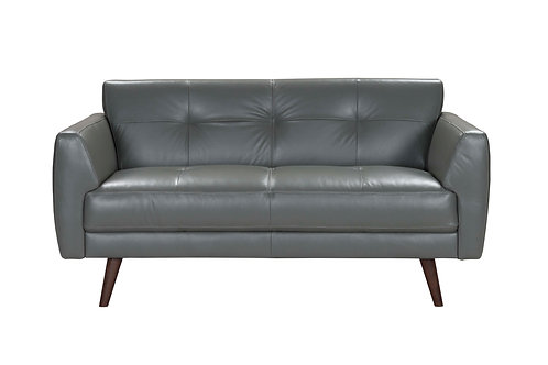 Adda Loveseat  Gray Leather