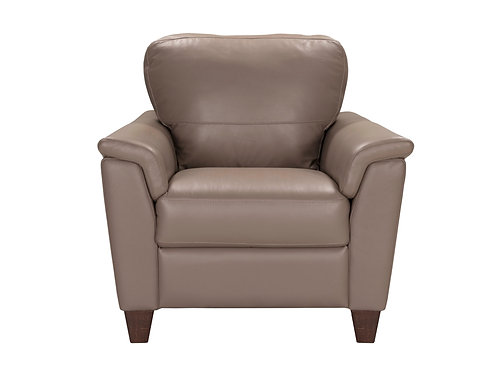Belfast Chair Taupe Leather