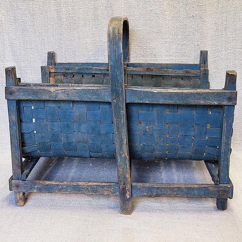 Best Blue Original Paint Kindling Basket