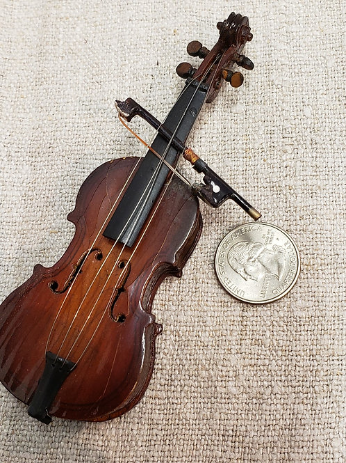 Miniature Doll Cello and Bow