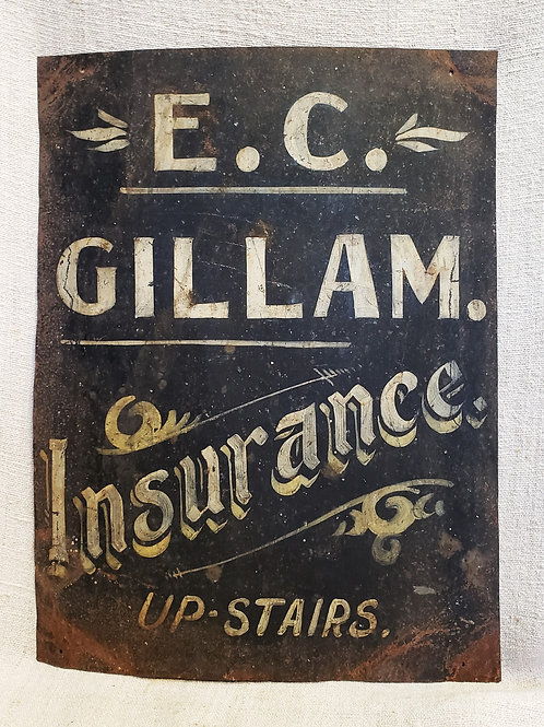 Early Tin Insurance Sign