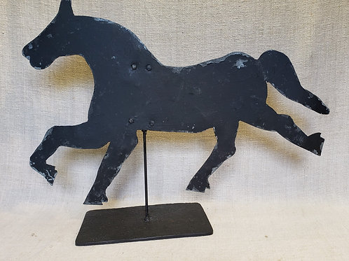 Metal Horse Weather Vane in Black Paint