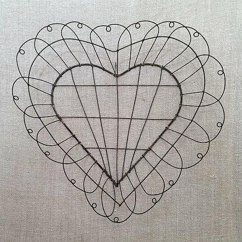 Heart Shaped Vintage Wire Basket