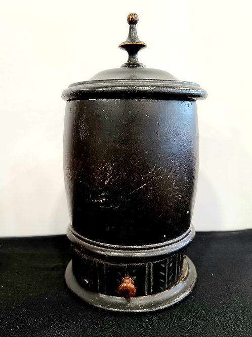 Black Treen Covered Container