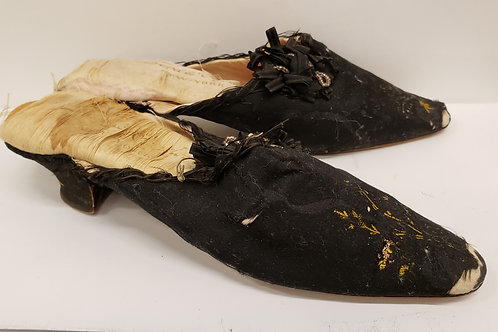 Vintage Pair of Silk Brocade Shoes