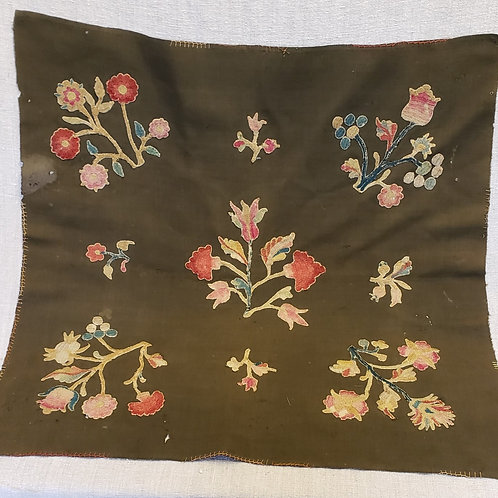 19th C Table Mat with 18th C Embroidery