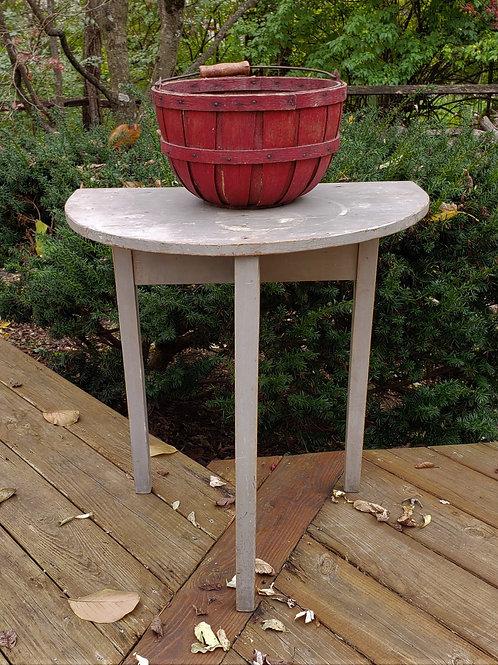 Gray Demilune Table