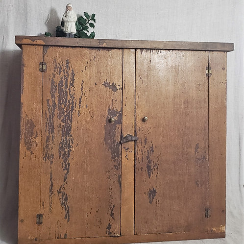 Mustard Grained Paint Hanging Cupboard