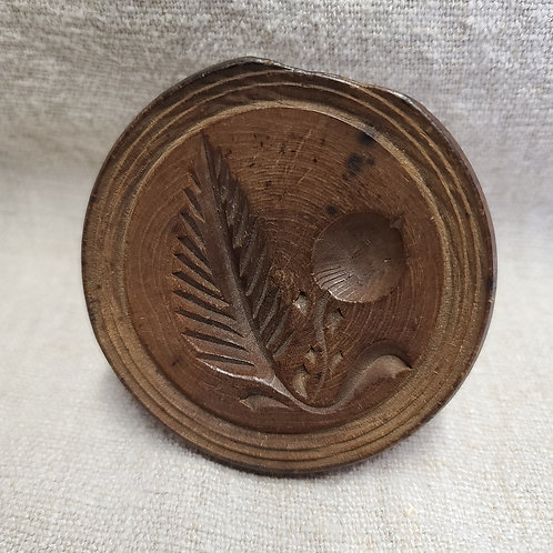 Antique Butter Stamp with Cherry
