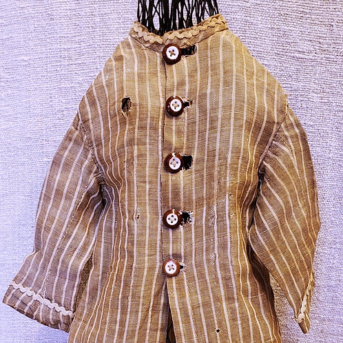 Brown Striped Doll Dress