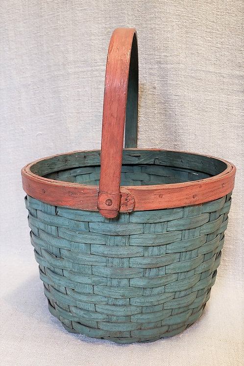 Red and Blue Antique Basket