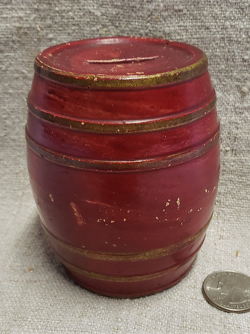 Stoneware Mini Barrel Cold Painted
