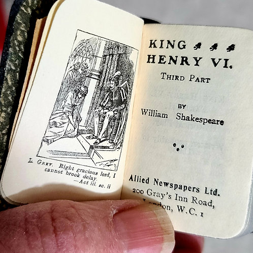 2 Miniature Doll Size Shakespeare books. Measure for Measure and