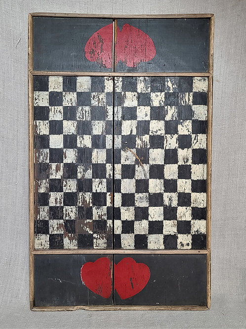 Antique Gameboard with Hearts