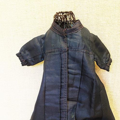 Blue Twill Doll Coat