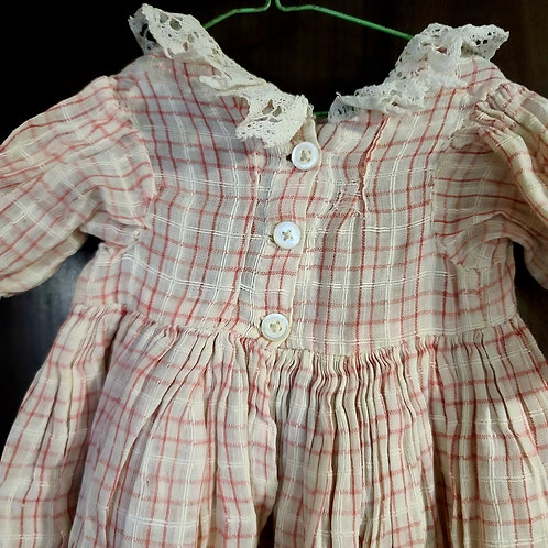 Cotton Lawn Plaid Doll Dress