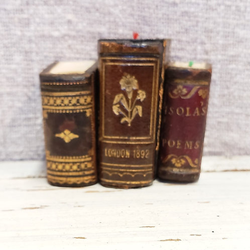 Three Leather Miniature Books