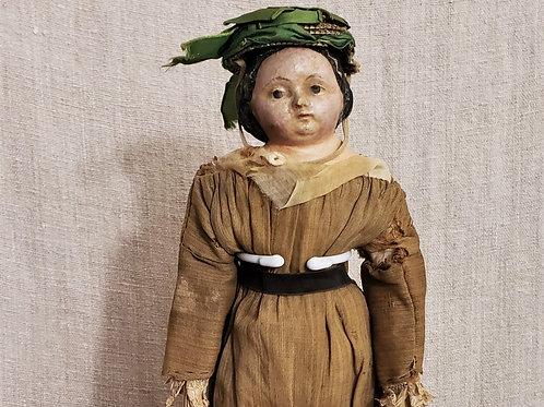 """15"""" Antique Paper Mache Doll"""