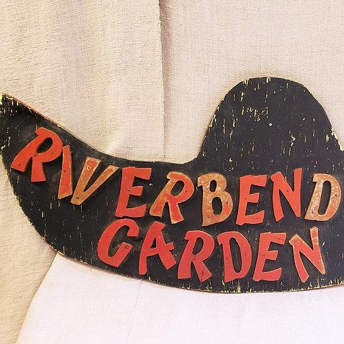 Vintage Garden Hat Sign