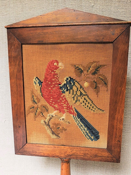 Rare Table Top Fire Screen