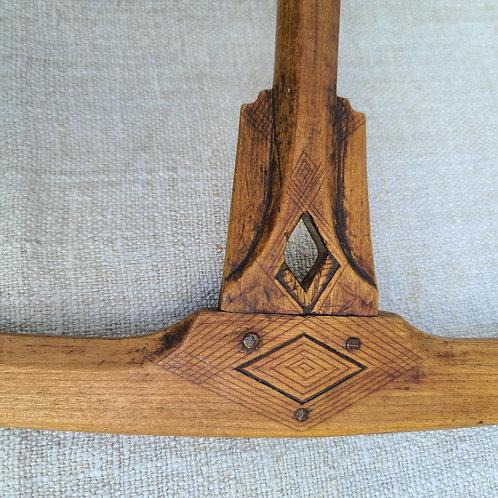 Incredibly Carved Antique Niddy Noddy