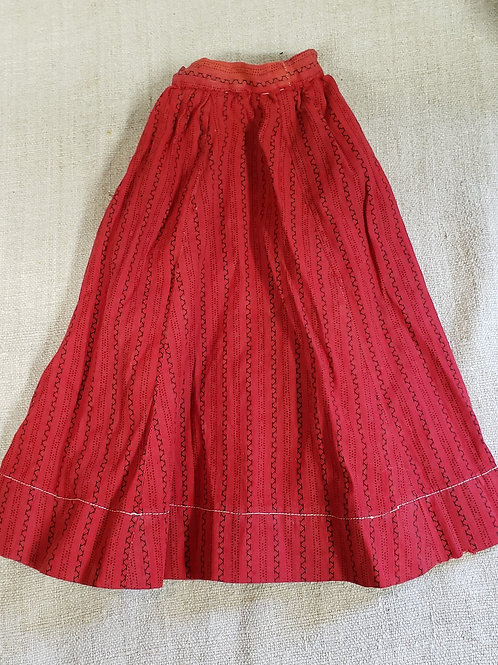 Best red calico doll skirt
