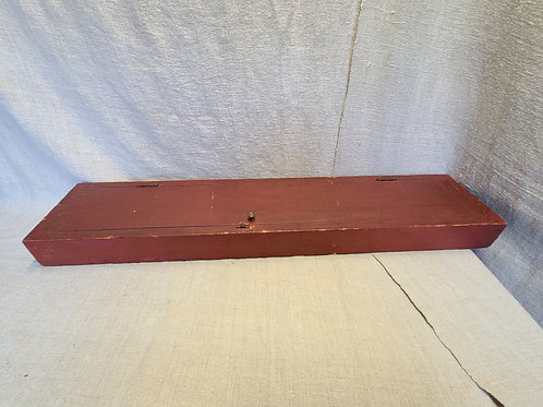 Antique Red Map Box/Cabinet