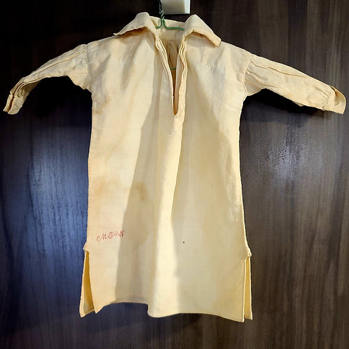 18th C Hand Sewn and Embroidered Dolls Nightshirt