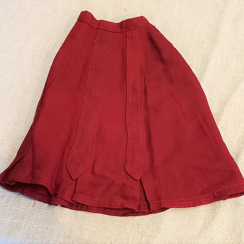 Red Wool Doll Skirt