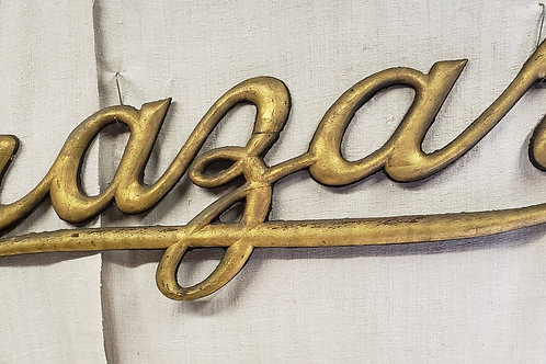 C1890s Gilded Razar Sign