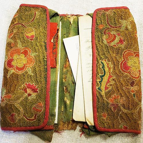 C1740s Crewel Men's Pocketbook