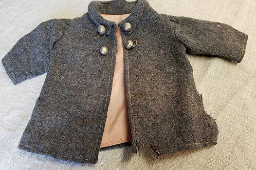 Grey Wool Doll Coat
