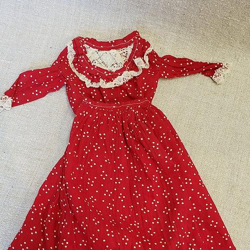 Red Polka Dot 2 pc Doll Dress