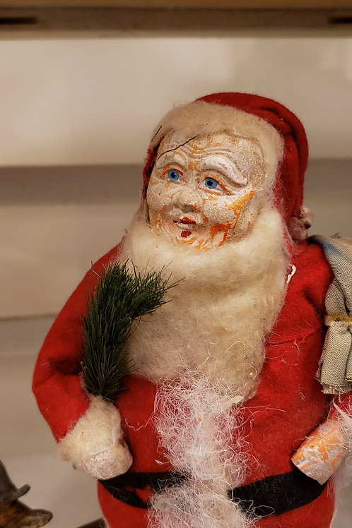 """10"""" Antique Santa with a Pack"""