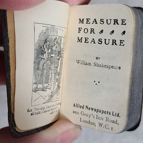 Miniature Doll copy of Measure for Measure  Black Cover