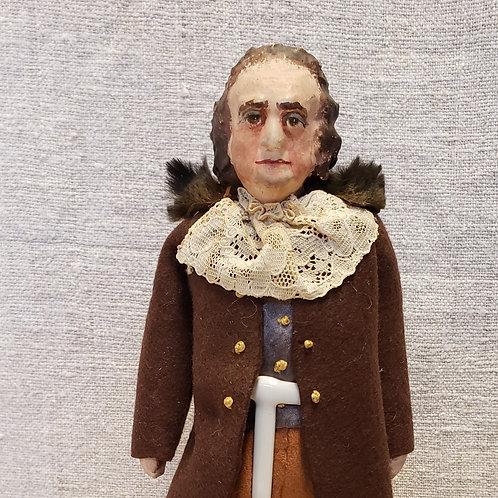 "10"" Terra Cotta Man Doll Ben Franklin"