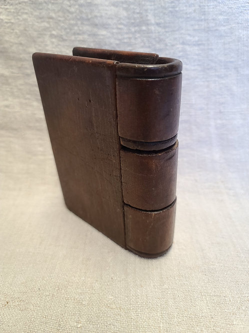 Antique Walnut Book Shaped Bank