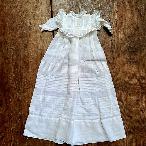 Long White Doll Dress with Lace