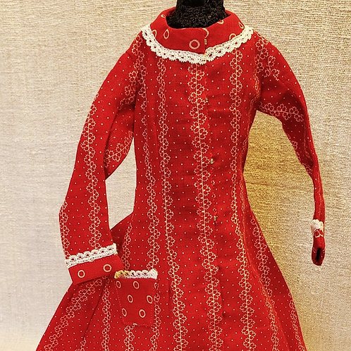 Red Calico Doll Dress
