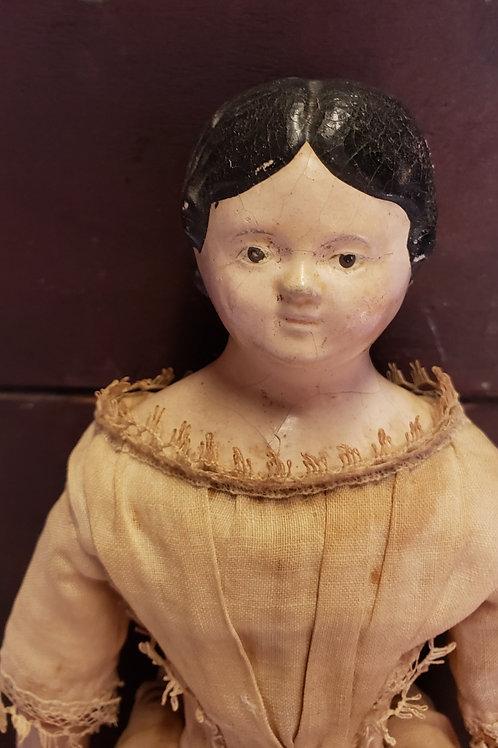 """13"""" Papier Mache/Milliners Doll"""