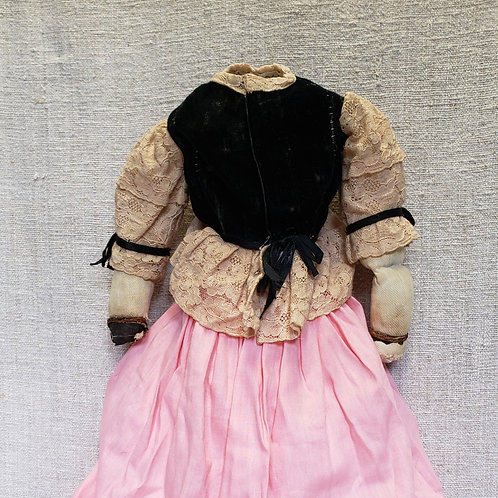 Headless Rag Doll in Hand Sewn Clothes