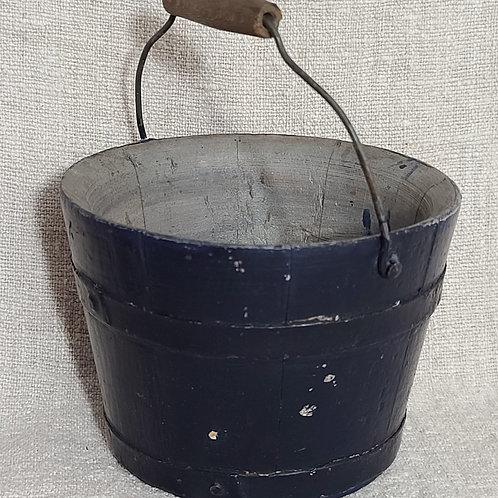 Blue Child's Wooden Bucket