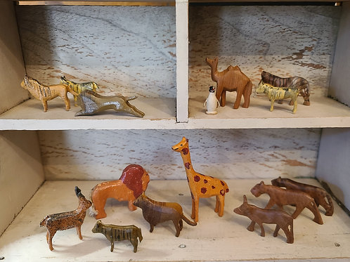 Group of 15 Tiny Zoo Animals
