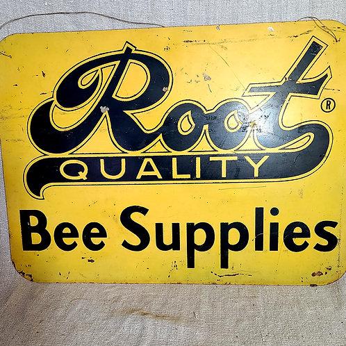 Vintage Metal Bee Supply Sign