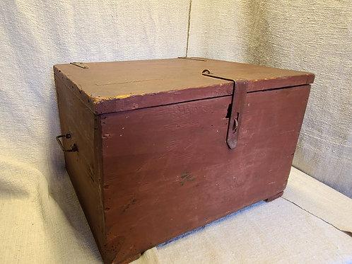 Antique Cellarette with Original Red Paint