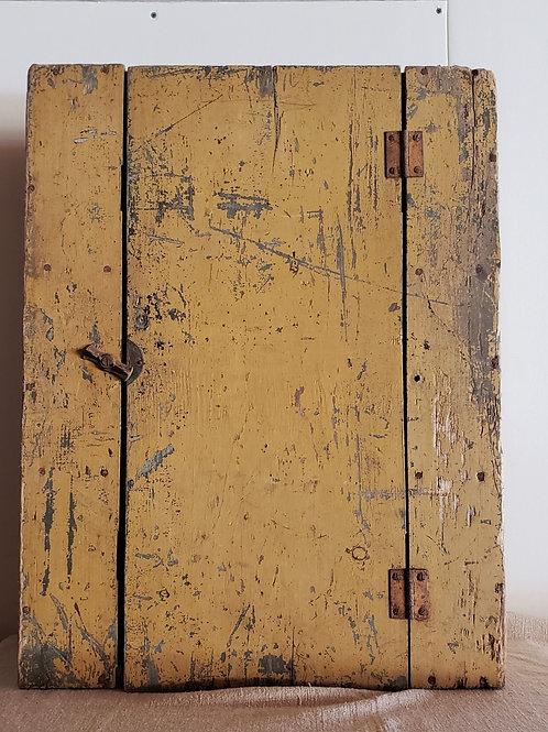 Antique Mustard Hanging Cupboard