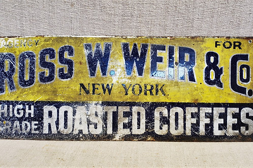 Antique Porcelain Coffee Sign