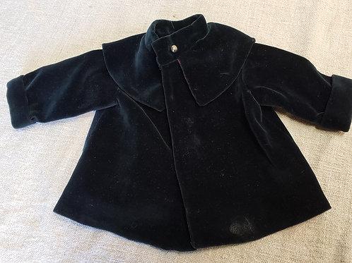 Dark Blue Velvet Doll Coat