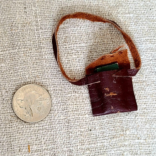 Miniature Doll Bookbag and Book